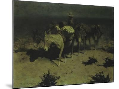 A Pack Train, 1909-Frederic Sackrider Remington-Mounted Giclee Print