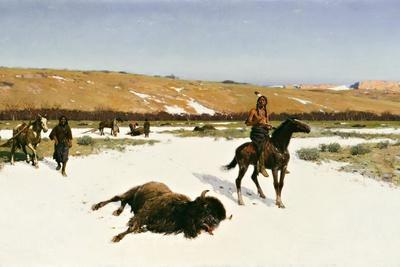 The Last of the Herd, 1906-Henry Francois Farny-Framed Giclee Print