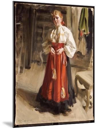 Girl in Orsa Costume, 1911-Anders Leonard Zorn-Mounted Giclee Print