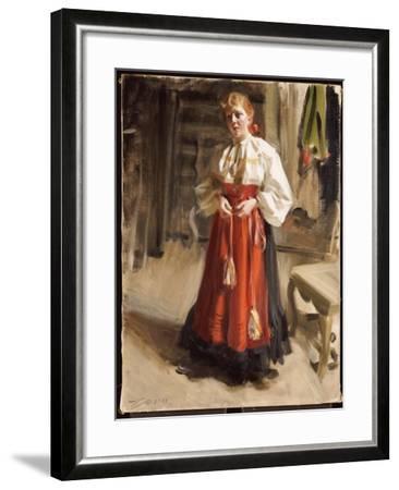 Girl in Orsa Costume, 1911-Anders Leonard Zorn-Framed Giclee Print