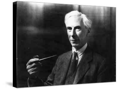 Bertrand Russell-English Photographer-Stretched Canvas Print