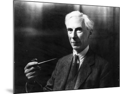 Bertrand Russell-English Photographer-Mounted Photographic Print