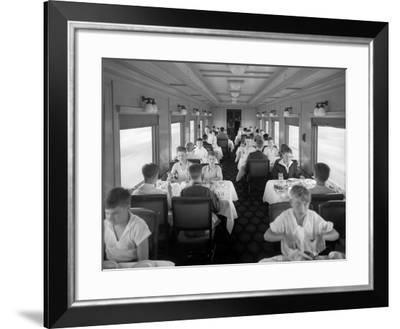 D&Rgw Dining Car Interior, c.1927-George Lytle Beam-Framed Photographic Print