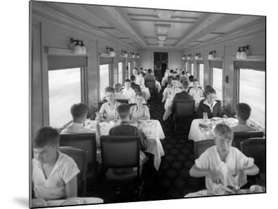 D&Rgw Dining Car Interior, c.1927-George Lytle Beam-Mounted Photographic Print