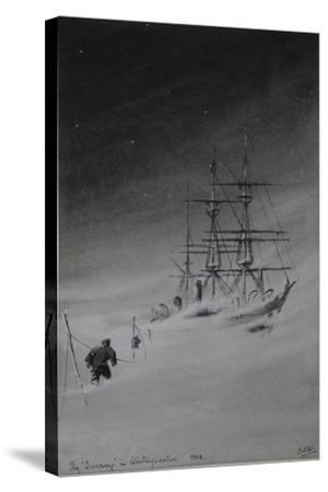 The 'Discovery' in Winterquarters, 1903-Edward Adrian Wilson-Stretched Canvas Print