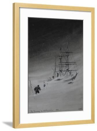 The 'Discovery' in Winterquarters, 1903-Edward Adrian Wilson-Framed Giclee Print