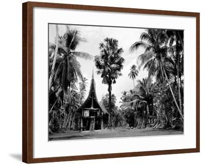 The House Tamberan of Kanganama on the Sepik River, Papua New Guinea, 1974--Framed Photographic Print