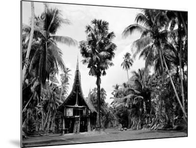 The House Tamberan of Kanganama on the Sepik River, Papua New Guinea, 1974--Mounted Photographic Print