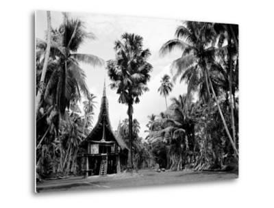 The House Tamberan of Kanganama on the Sepik River, Papua New Guinea, 1974--Metal Print