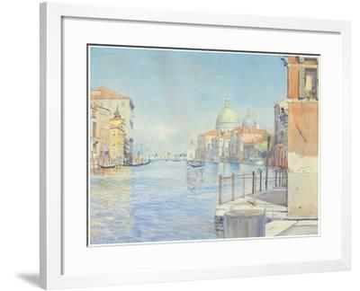 The Gran Canal, Venice, with the Santa Maria Della Salute, 1910-Gunnar Widforss-Framed Giclee Print