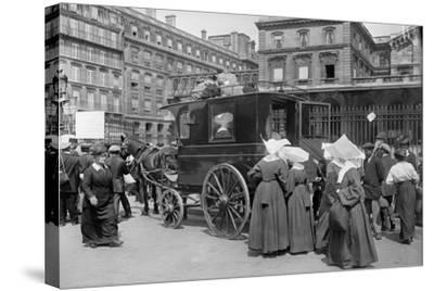 Sisters of St. Vincent de Paul Leaving, Gare de l'Est, Paris, 1914-Jacques Moreau-Stretched Canvas Print