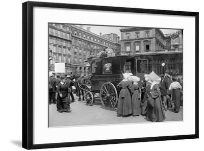 Sisters of St. Vincent de Paul Leaving, Gare de l'Est, Paris, 1914-Jacques Moreau-Framed Photographic Print