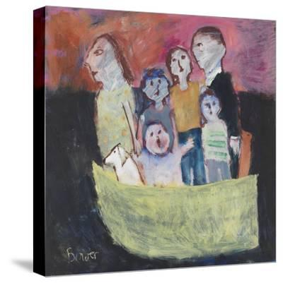 Nuclear Family; 2011-Susan Bower-Stretched Canvas Print