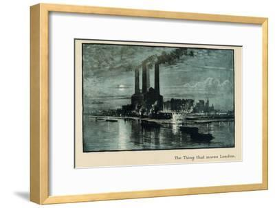 The Thing That Moves London, from 'The New Lights O' London', Published 1926-Donald Maxwell-Framed Giclee Print