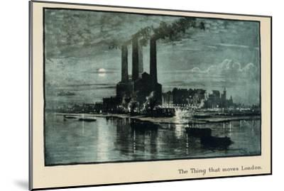 The Thing That Moves London, from 'The New Lights O' London', Published 1926-Donald Maxwell-Mounted Giclee Print