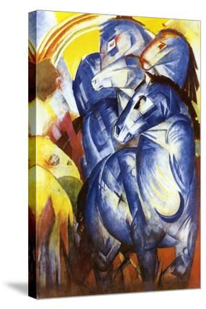 A Tower of Blue Horses, 1913-Franz Marc-Stretched Canvas Print