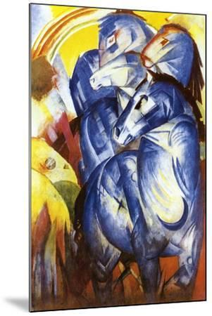 A Tower of Blue Horses, 1913-Franz Marc-Mounted Giclee Print