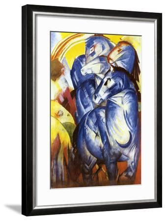 A Tower of Blue Horses, 1913-Franz Marc-Framed Giclee Print