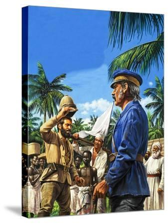 Henry Stanley Greets David Livingstone-Roger Payne-Stretched Canvas Print
