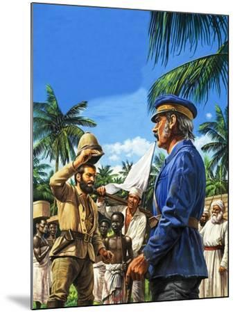 Henry Stanley Greets David Livingstone-Roger Payne-Mounted Giclee Print