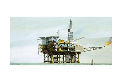 An Oil Rig-Clifford Meadway-Framed Giclee Print