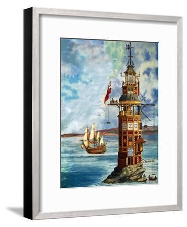 The First Eddystone Lighthouse-Peter Jackson-Framed Giclee Print