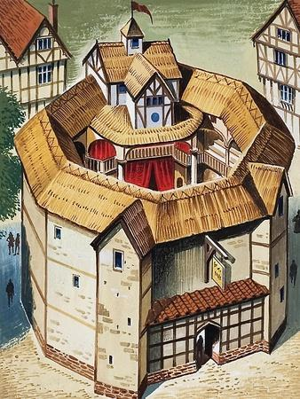 The Globe Theatre-English School-Framed Giclee Print