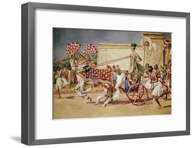 Nefertiti in Her Royal Chariot-Fortunino Matania-Framed Giclee Print