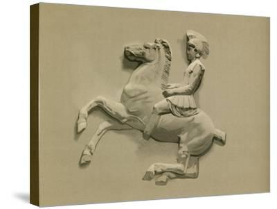 Fragment from the Parthenon Frieze-Spanish School-Stretched Canvas Print