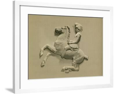 Fragment from the Parthenon Frieze-Spanish School-Framed Giclee Print