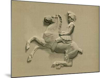 Fragment from the Parthenon Frieze-Spanish School-Mounted Giclee Print
