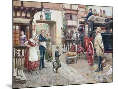 David Copperfield Goes to School-Fortunino Matania-Mounted Giclee Print