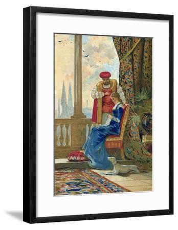 King Henry VIII and Ann Boleyn-Dionisio Baixeras-Verdaguer-Framed Giclee Print