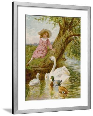 Feathered Pets-English School-Framed Giclee Print