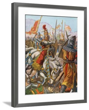 Frederick Barbarossa Is Wounded at the Battle of Legnano, 1176-Tancredi Scarpelli-Framed Giclee Print