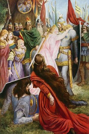 Lohengrin, Act I Scene III-Fred Leeke-Stretched Canvas Print