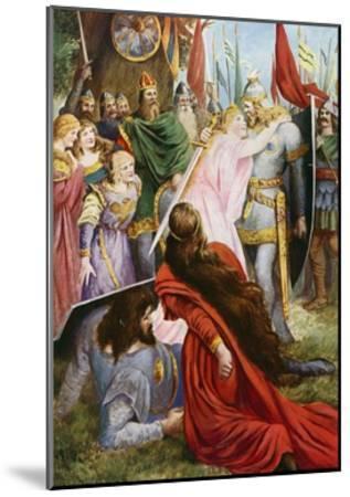 Lohengrin, Act I Scene III-Fred Leeke-Mounted Giclee Print
