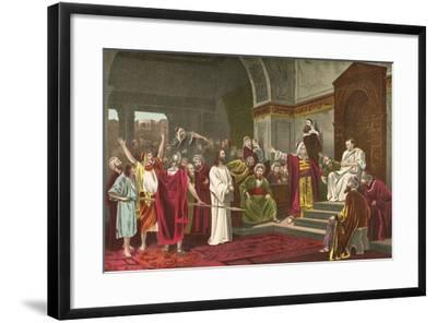 Christ before Pilate-Mihaly Munkacsy-Framed Giclee Print