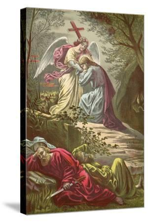 Jesus in the Garden of Gethsemane-North American-Stretched Canvas Print