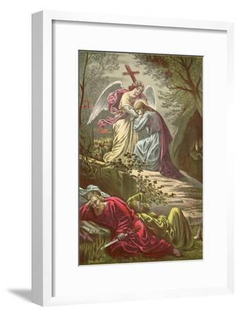 Jesus in the Garden of Gethsemane-North American-Framed Giclee Print