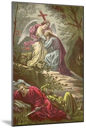 Jesus in the Garden of Gethsemane-North American-Mounted Giclee Print