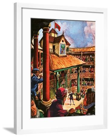 Shakespeare Performing at the Globe Theatre-Peter Jackson-Framed Giclee Print