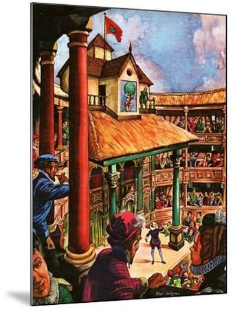 Shakespeare Performing at the Globe Theatre-Peter Jackson-Mounted Giclee Print