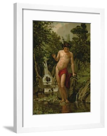 Narcissus in Love with His Own Reflection-Dionisio Baixeras-Verdaguer-Framed Giclee Print