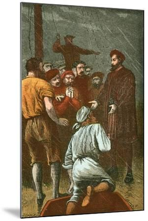 Vasco Da Gama Refuses to Turn Back Again-English School-Mounted Giclee Print