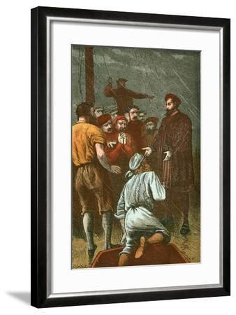 Vasco Da Gama Refuses to Turn Back Again-English School-Framed Giclee Print
