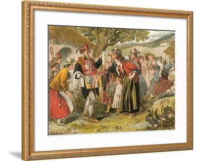 Come Buy of Me-Sir John Gilbert-Framed Giclee Print