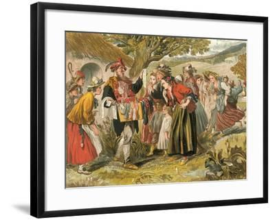 Come Buy of Me-Sir John Gilbert-Framed Giclee Print