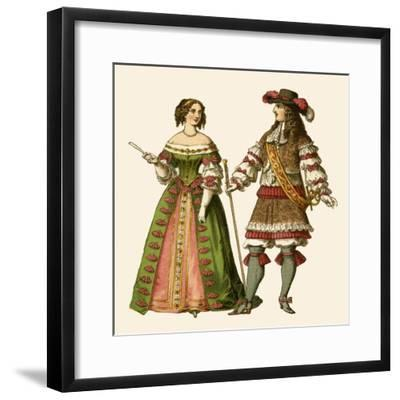 King Louis XIV of France and Maria Theresa Queen of France-Albert Kretschmer-Framed Giclee Print