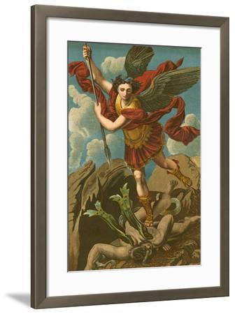 St Michael Vanquishing Satan-Raphael-Framed Giclee Print